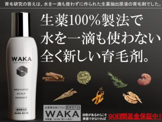 『9/21(水)販売(掲載)終了!』 水を一滴も使っていない生薬100%の育毛剤『生薬WAKA』の効果とは!?